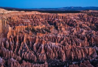 BRYCE CANYON NATIONAL PARK, UT - NOVEMBER 8:  The unusual sandstone rock formations in Bryce Canyon Amphitheater are viewed before sunrise on November 8, 2018 in Bryce Canyon National Park, Utah. Bryce Canyon National Park, located 2 hours north of Zion National Park, features spectacular geologic formations including  mountains, canyons, spires known as hoodoos, buttes, mesas, monoliths, rivers, and natural arches. (Photo by George Rose/Getty Images)