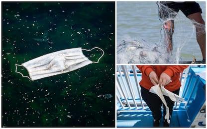 Coronavirus, allerta per mascherine e guanti nelle reti da pesca