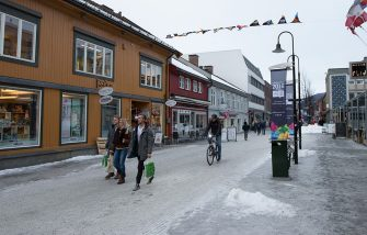 LILLEHAMMER, NORWAY - FEBRUARY 12: A general view of the city centre of Lillehammer prior to the Lillehammer 2016 Winter Youth Olympic Games on February 12, 2016 in Lillehammer, Norway.  (Photo by Ragnar Singsaas/Getty Images)
