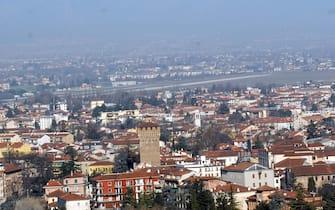 Una foto aera della città di Vicenza