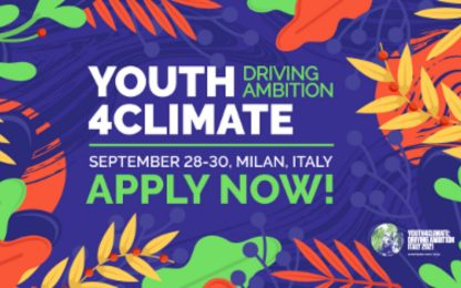 Youth4Climate: Driving Ambition, al via le candidature