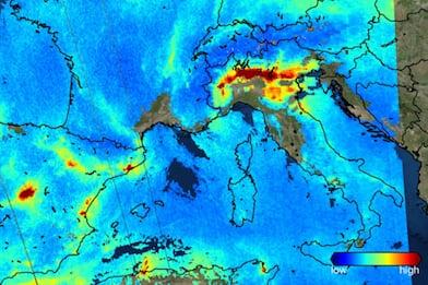 L'inquinamento del Nord Italia nell'immagine scattata dallo spazio