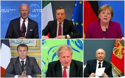 Summit clima, Biden: decennio decisivo. Draghi: possiamo vincere sfida