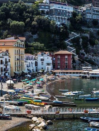 SORRENTO, CAMPANIA, ITALY - 2015/09/01: The Marina Grande of Sorrento. (Photo by John Greim/LightRocket via Getty Images)