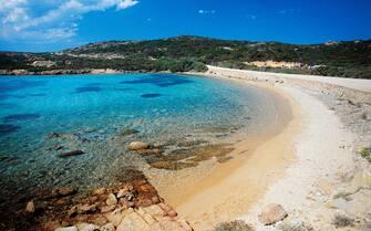 ITALY - MAY 08: Cala Portese, Caprera Island, Maddalena Archipelago National Park, Sardinia, Italy. (Photo by DeAgostini/Getty Images)