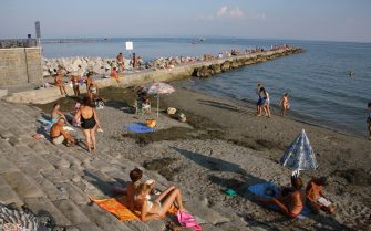 (GERMANY OUT) Italy - Grado: beach at the Gulf of Trieste - 21.10.2008 (Photo by Wodicka/ullstein bild via Getty Images)