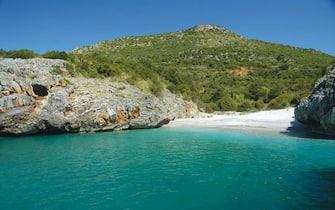 La spiaggia di Cala Bianca di Camerota in Cilento, vincitrice del sondaggio web di Legambiente 'La piu' bella sei tu'. Roma, 7 agosto 2013. ANSA/ US LEGAMBIENTE +++ NO SALES - EDITORIAL USE ONLY +++