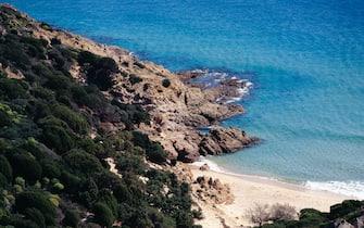 ITALY - SEPTEMBER 7: The coast near the beach of Chia, Domus de Maria, Sardinia, Italy. (Photo by DeAgostini/Getty Images)