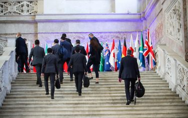 Palazzo Reale di Napoli per il vertice del G20. Napoli. 22 Luglio 2021  ANSA/CESARE ABBATE/