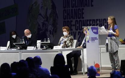 """Greta Thunberg a Milano per Youth4Climate: """"Basta con i bla bla bla"""""""
