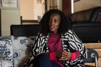 23-year-old Ugandan climate advocate, Vanessa Nakate, is photographed at her home in Kampala, during an interview with AFP on January 28, 2020. - Vanessa Nakate was at the heart of a viral debate that erupted at the World Economic Forum in Davos, Switzerland last week after she was cropped out of a photo of a young activists, including Greta Thunberg, taken after a press conference. (Photo by ISAAC KASAMANI / AFP) (Photo by ISAAC KASAMANI/AFP via Getty Images)