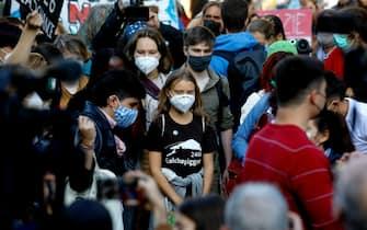 Greta Thunberg alla manifestazione di Milano Fridays for future