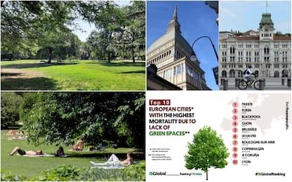 Città verdi, Trieste e Torino le peggiori in Europa. La classifica