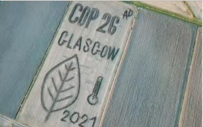 Land Art, l'omaggio di Dario Gambarin alla Cop26 di Glasgow