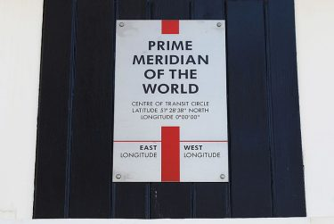 LONDON, ENGLAND - MARCH 26:  A sign marks the 'Prime Meridian of the World' at Longitude 0º at the Royal Observatory in Greenwich on March 26, 2012 in London, England. The Royal Observatory, Greenwich encompasses Flamsteed House, the original Observatory building which was designed by Sir Christopher Wren in 1675, as well as the Peter Harrison Planetarium, the Prime Meridian of the World, the Harrison timekeepers and the UK's largest refracting telescope.  (Photo by Oli Scarff/Getty Images)