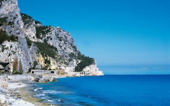 ITALY - APRIL 28: The cliff near Noli Cape, Liguria, Italy. (Photo by DeAgostini/Getty Images)