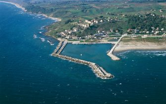 UNSPECIFIED - AUGUST 01: Aerial view of Porto Palo di Menfi - Province of Agrigento, Sicily Region, Italy (Photo by DeAgostini/Getty Images)
