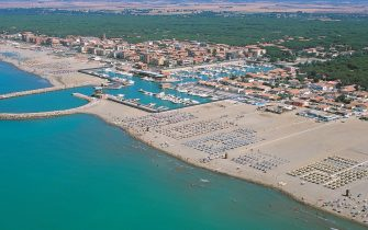 La spiaggia di Marina di Grosseto, in Toscana