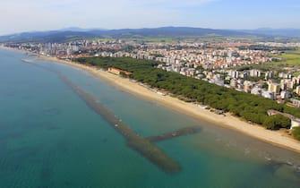 La spiaggia del Sud a Follonica, in Toscana