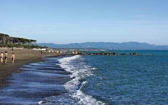La spiaggia Le Gorette, a Cecina, in Toscana