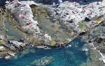 La spiaggia di Cala Quecianella, a Livorno, in Toscana