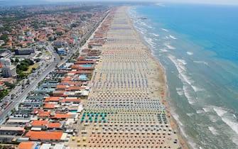 La spiaggia di Lido di Camaiore, in Toscana