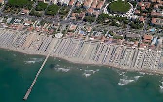 La spiaggia di Forte dei Marmi, in Toscana
