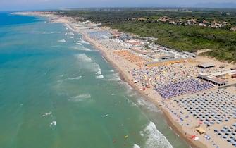 La spiaggia di Marina di Pisa, in Toscana