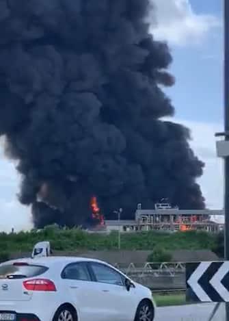 Venezia incendio Marghera