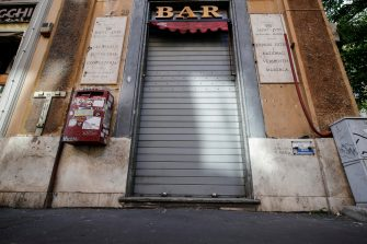 A Bar closed during of phase two, of the COVID-19 coronavirus lockdown, in Rome, Italy, 8 May 2020. ANSA/GIUSEPPE LAMI