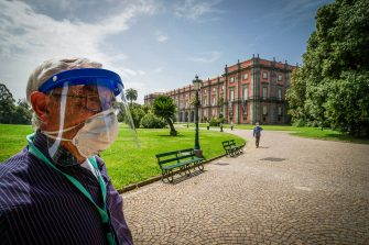 A moment of the reopening of the Real Park of Capodimonte during the second phase of the Coronavirus Covid-19, Naples, 18 May 2020. CESARE ABBATE