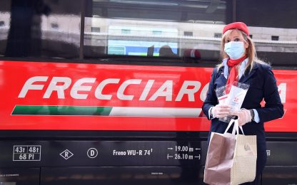 Coronavirus, Trenitalia: Safety kit gratuito su treni alta velocità