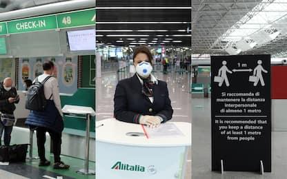 Coronavirus, da giugno Alitalia ripristina alcuni voli. FOTO