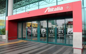 Il terminal1 Alitalia, ora chiuso, all'aeroporto Leonardo Da Vinci di Fiumicino. Secondo fonti la newco parte con 25-30 aerei
