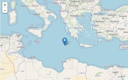 Terremoto, scossa di magnitudo 5.5 tra Italia e Grecia