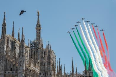 Frecce Tricolori, partito il Giro d'Italia: voli su tutte le regioni