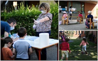 Scuola, a Ivrea lezioni all'aperto per bambini da 3 a 6 anni. FOTO