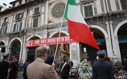 Piazza della Loggia, a Brescia la commemorazione della strage. FOTO