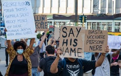 Milano, protesta per l'omicidio di George Floyd. FOTO