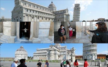 Coronavirus, riaperti la Torre di Pisa e il Duomo. FOTO