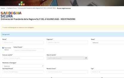 Coronavirus, è attiva la registrazione digitale per arrivi in Sardegna