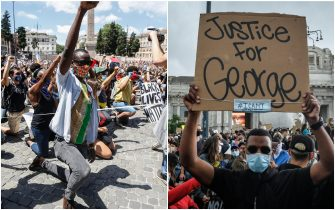 george floyd proteste roma milano