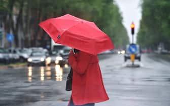 Pioggia e maltempo a Torino, 20 aprile 2020 ANSA/ ALESSANDRO DI MARCO