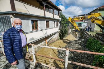Damages caused by bad weather in San Mauro Torinese, near Turin, northern Italy, 09 June 2020. The heavy rains caused a ridge of the nearby mountain to collapse, which then fell into the Sant'Anna stream causing flooding. ANSA/TINO ROMANO