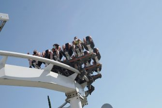 CASTELNUOVO DEL GARDA, ITALY - JUNE 13: General views of the Gardaland Amusement Theme Park on June 13, 2020 in Castelnuovo del Garda, Italy. Gardaland Amusement Theme Park is the first one to reopen in Italy after the ease of the lockdown imposed for the Covid-19 pandemic. (Photo by Vittorio Zunino Celotto/Getty Images)