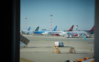 MILAN, ITALY - JUNE 03:  General view of Milan Malpensa Airport on the first day of reopening of domestic flights on June 03, 2020 in Milan, Italy. Flights have started again from the ease of the Covid-19 lockdown on June 3rd.  (Photo by Lorenzo Palizzolo/Getty Images)