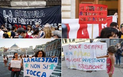 """""""Scuole aperte e sicure"""", manifestazioni in tutta Italia. FOTO"""