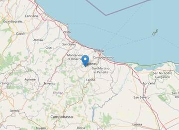 Terremoto a Montecilfone (Campobasso): scossa di magnitudo 3.5