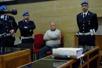 Graziano Mesina in aula, in una foto d'archivio. ANSA