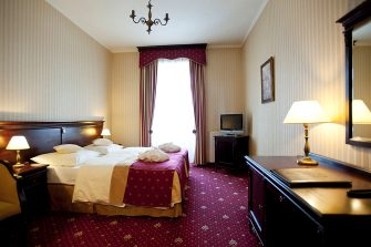 This picture taken on February 14, 2012 shows a double room at the Turowka hotel in Wieliczka near Krakow where the Italian national football team will be based for the Euro 2012 football championships from June 8, 2012 to July 1, 2012. (Photo credit should read BARTOSZ SIEDLIK/AFP via Getty Images)